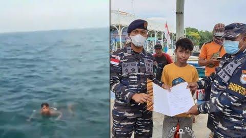 Viral TNI AL Selamatkan Bocah Terambang di Tengah Laut, Begini Kronologinya